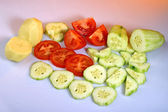 Raw food composition — Stock Photo