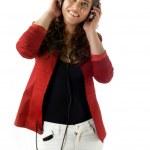 Attractive woman listening music — Stock Photo