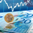 Stock Photo: Euro money background