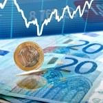 Euro money background — Stock Photo