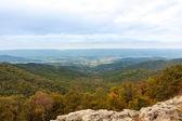 Visão geral do vale nas montanhas apalaches — Foto Stock