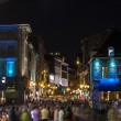 Stock Photo: Crowd at night in Montreal