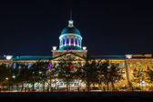 Bonsecours Market from Old Port side at night — Stock Photo