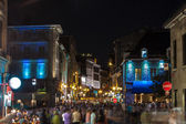 Crowd at night in Montreal — Stock Photo