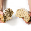Breaking Bread - Stock Photo