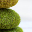Stock Photo: Stack of Mossy Rocks