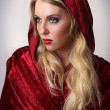 Woman with Red Hood and Cape — Stock Photo