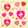 Valentines day stuff as hearts set — Stock Vector