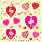 Sevgililer günü in kalp set olarak — Stok Vektör