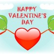 Royalty-Free Stock Vector Image: Happy valentine\'s day greeting card