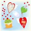 Royalty-Free Stock Vector Image: Love is in the air - valentine\'s day stuff