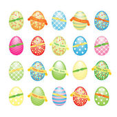 Collection of Easter eggs decorated — Stock Vector