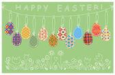 Yumurta süsleme ve karalamalar — Stok Vektör