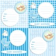 Vector de stock : Baby shower card 4
