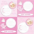 Stock Vector: Baby shower card 3