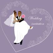 Bruiloft kaart 3 — Stockvector