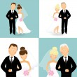 Wedding 3 — Stock Vector