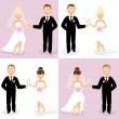 Royalty-Free Stock ベクターイメージ: Bride and groom set 3