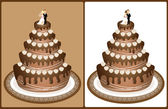 Wedding cake 1 — Stock Vector