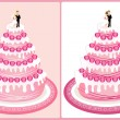 Wedding cake 2 — Stock Vector