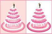 Hochzeitstorte 2 — Stockvektor