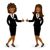 Businesswoman showing okay sign — Stock Vector