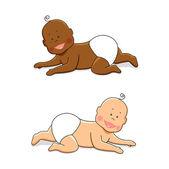 Crawling babies 2 — Vetor de Stock