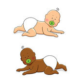 Crawling babies 3 — Stock Vector