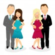 Expectant parents — Stock Vector