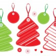 Set of Christmas trees — Imagen vectorial