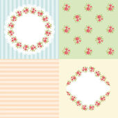 Vintage patterns and frames — Stock Vector