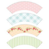 Cupcake wrappers 3 — Stock Vector