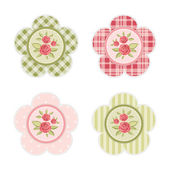 Vintage cupcake toppers 5 — Stock Vector