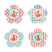 Vintage cupcake toppers 4 — Stock Vector
