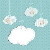 Retro clouds 4 — Stock Vector