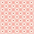 Retro hearts background 11 — Stok Vektör