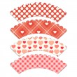 Cupcake wrappers 6 — Stock Vector