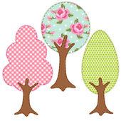 Tree applique 5 — Stock Vector
