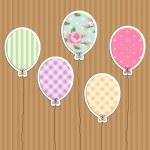 复古派对气球 — 图库矢量图片