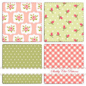 Shabby chic style patterns — Stock Vector