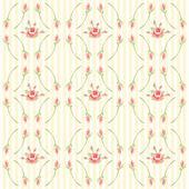 Antique rosebuds background — Stock Vector