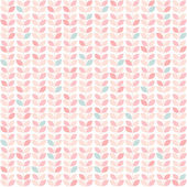 Primitive retro pattern with leaves in pastel colors — Stock Vector