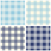 Set of four seamless  retro gingham patterns — Stock Vector