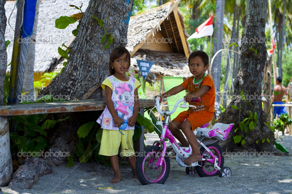 The lives of children island Gili Air  Stock Photo #14676067