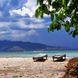 vie sur l'île de gili air — Photo