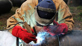 Industrial Welding — Stock Photo