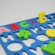 Stock Photo: Colorful Foam Alphabet Puzzle.