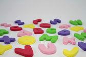 Lettres de l'alphabet jouet coloré. — Photo