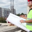 Stock Video: Architect Working Outdoors