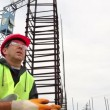 Stock Video: Construction Worker on Short Break
